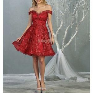 Glitter short homecoming prom formal new dress